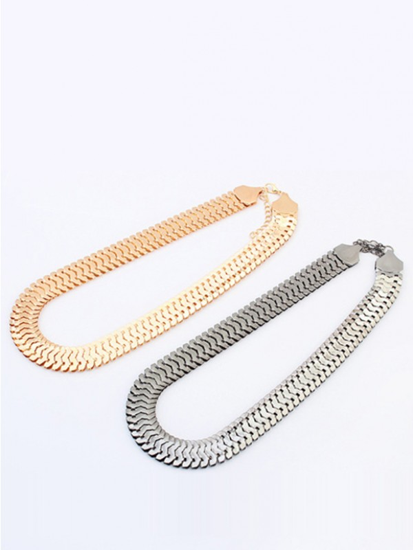 Occident Personality Metallic tjocka kedjor Korta Hot Sale Halsband