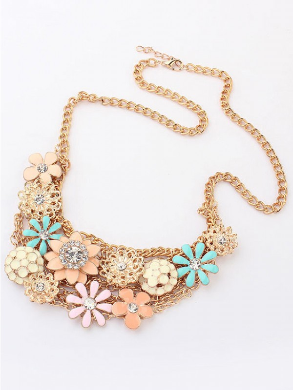 Koreansk version Sweet Fresh Blommas Metallic Hot Sale Halsband