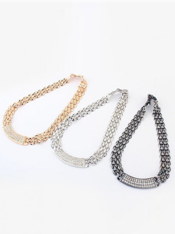 Occident Exquisite Metallic med diamanter Hot Sale Halsband