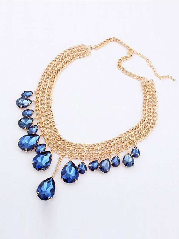 Occident Hyperbolic Snygg Metallic Mashup style Ny Water Drop Hot Sale Halsband