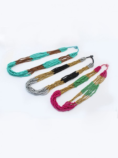 Mode Trender Occident Exotic Multi-layeRöd Seed Hot Sale Halsband